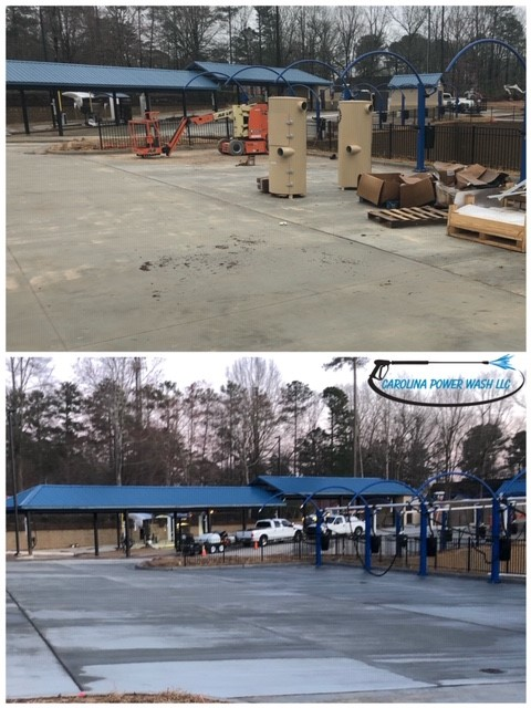 Commercial power washing in Apex, NC