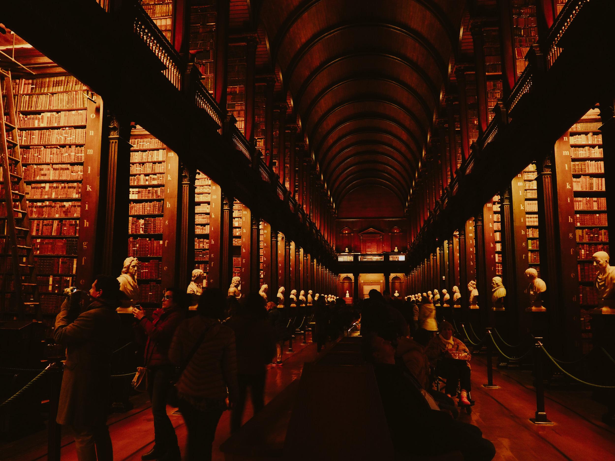 Trinity College Library.Dublin, Ireland.