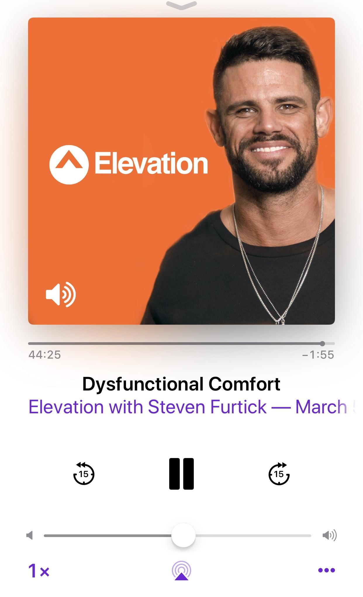 Steven Furtick- Dysfunctional Comfort