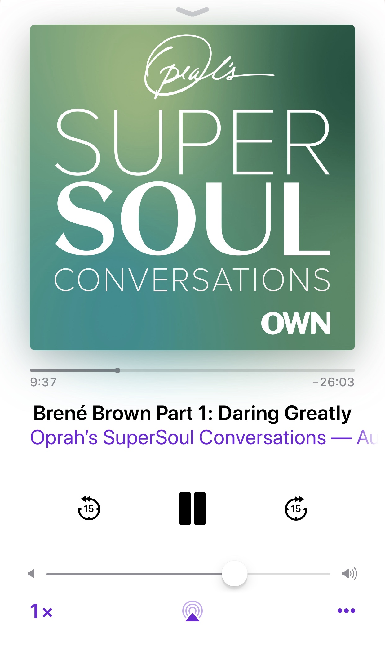 Oprah's SuperSoul Conversation with Brené Brown about her book Daring Greatly.
