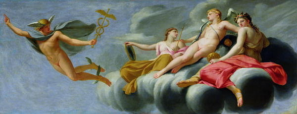 "Eustache Le Seur ""Cupid orders Mercury to announce the Power of Love to the Universe"""