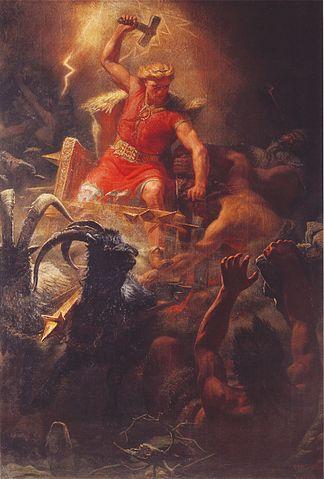 """Thor's Battle Against the Jötnar"" Marten E. Winge"