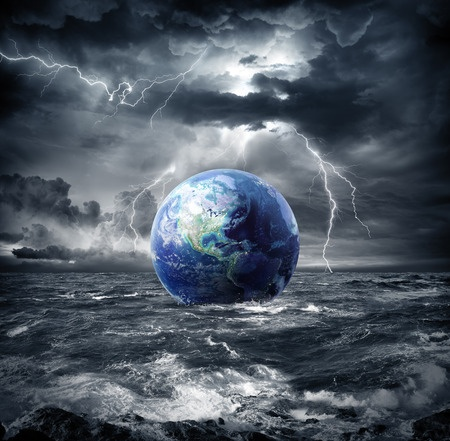 Earth in Storm (123rf images)