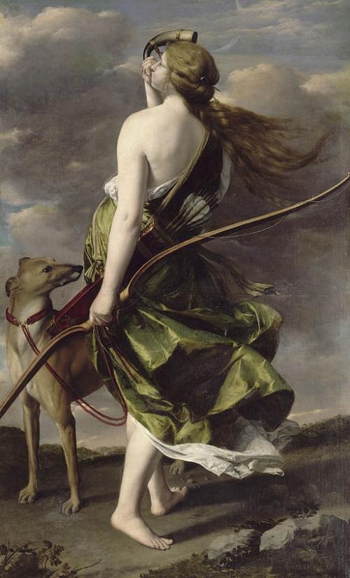 Diana the Huntress by Orazio Gentileschi