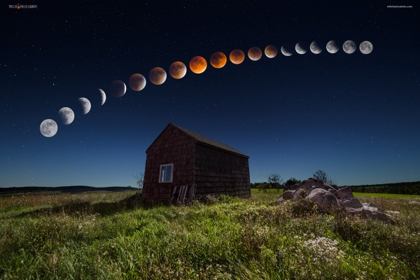 Eclipse (9/27/2015) in Maine; by Mike Taylor