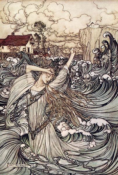"""Silkie"" by Arthur Rackham"