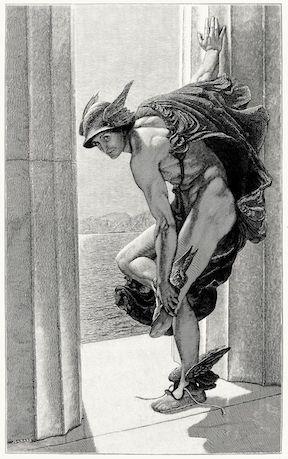 """Hermes"" by W.B. Richmond (1886)"