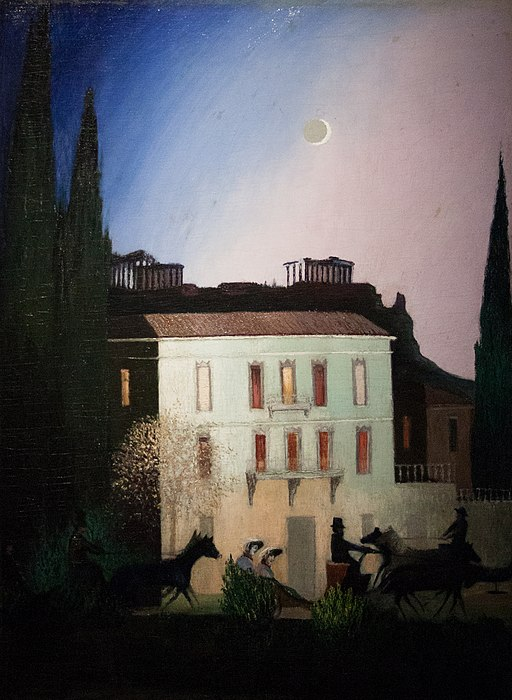 """Drive at New Moon in Athens"" by Tivadar Csontvary"