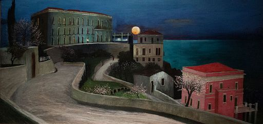 """Full Moon over Taormina"" by Tivadar Kosztka Csontvary"
