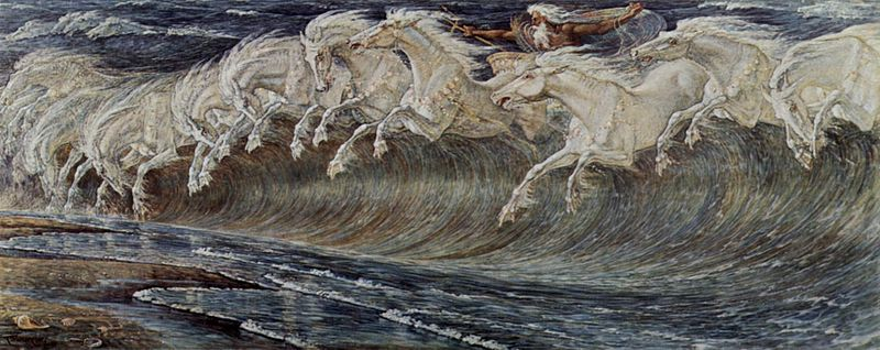 """Neptune's Horses"" by Walter Crane"