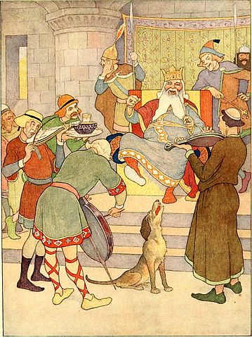 """""""Old King Cole"""" from the Boyd Smith Mother Goose (1920)"""