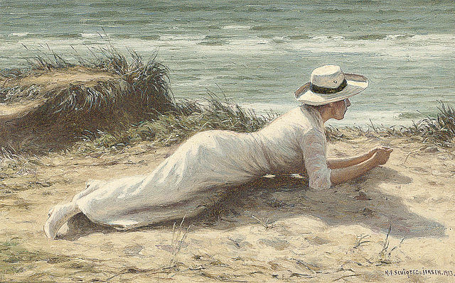 Summer on the Dunes, by Niels Frederik Schiottz-Jensen (1913)