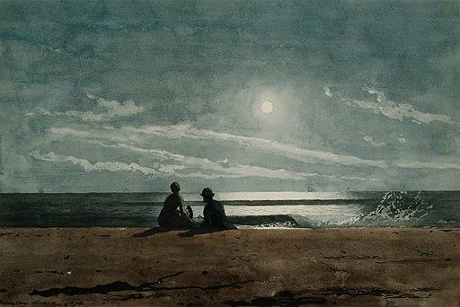 """Moonlight"" by Winslow Homer"