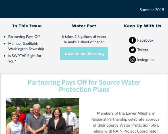 RAIN Newsletter Summer 2015
