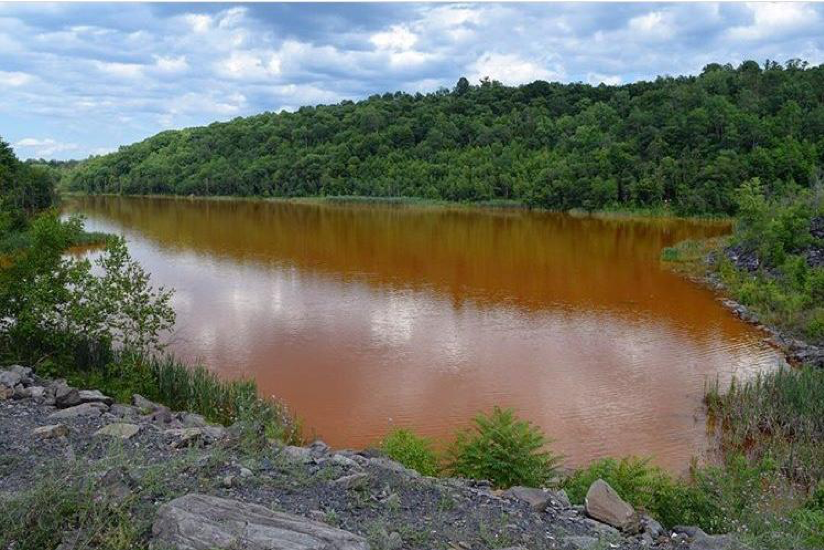 A lake in Northeast PA is no longer used for recreation because of AMD. Photo by Marissa Rollman.