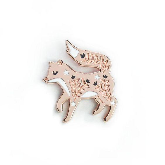 Shop  this Petaled Fox pin  by Papio Press