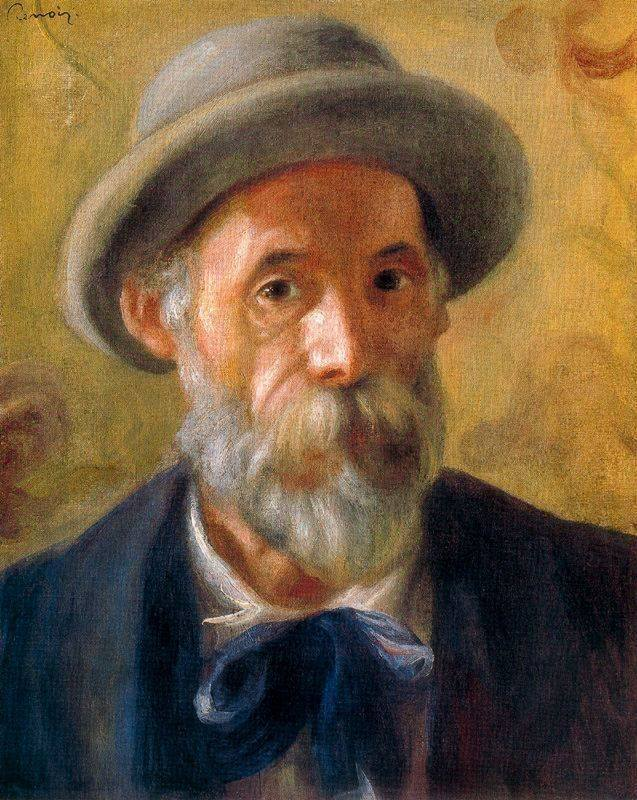 sun that blooms into the color    things are dreamt Of.   Love songs in paint.  Love songs for paint.     Pierre-Auguste Renoir  Self Portrait, 1899 Oil on Canvas 16 5/16 x 13 ¼ in The Clark