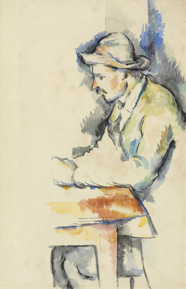 colored time  Chronicling  Concupiscent moments of  things revealed and immortalized.   Paul Cézanne  A Card Player, 1892-96  Private Collection