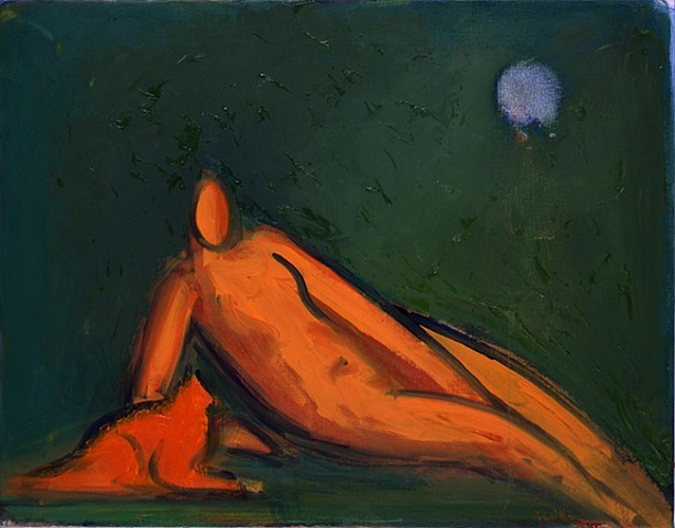 Paul Resika's figures have been forged in the furnace of 20th century painting, Embers still ablaze with clarity and life.   Paul Resika  Nude with Orange Cat, 2010-11  Oil on Canvas, 28 X 36 in Lori Bookstein Fine Art Gallery