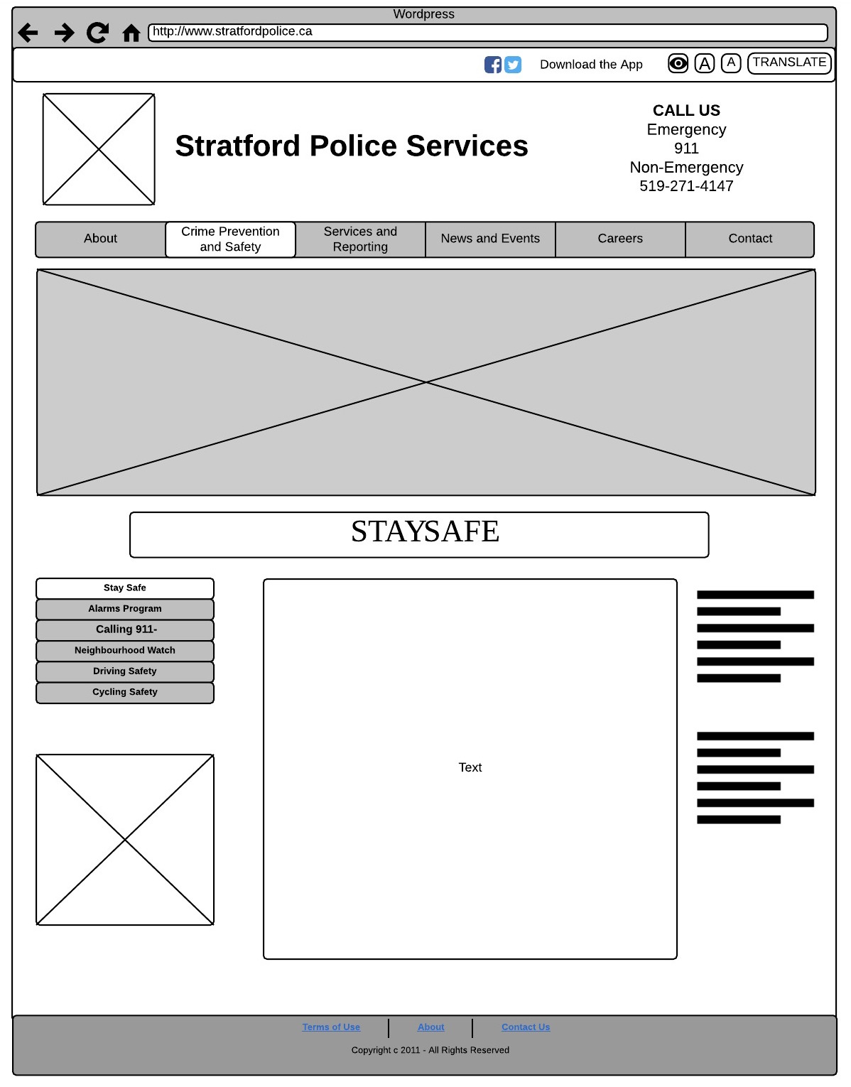 One of the Wireframe we made