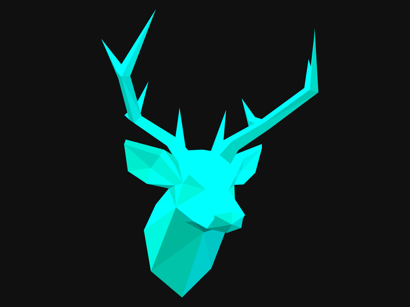 Stag Headvisual design, animation -