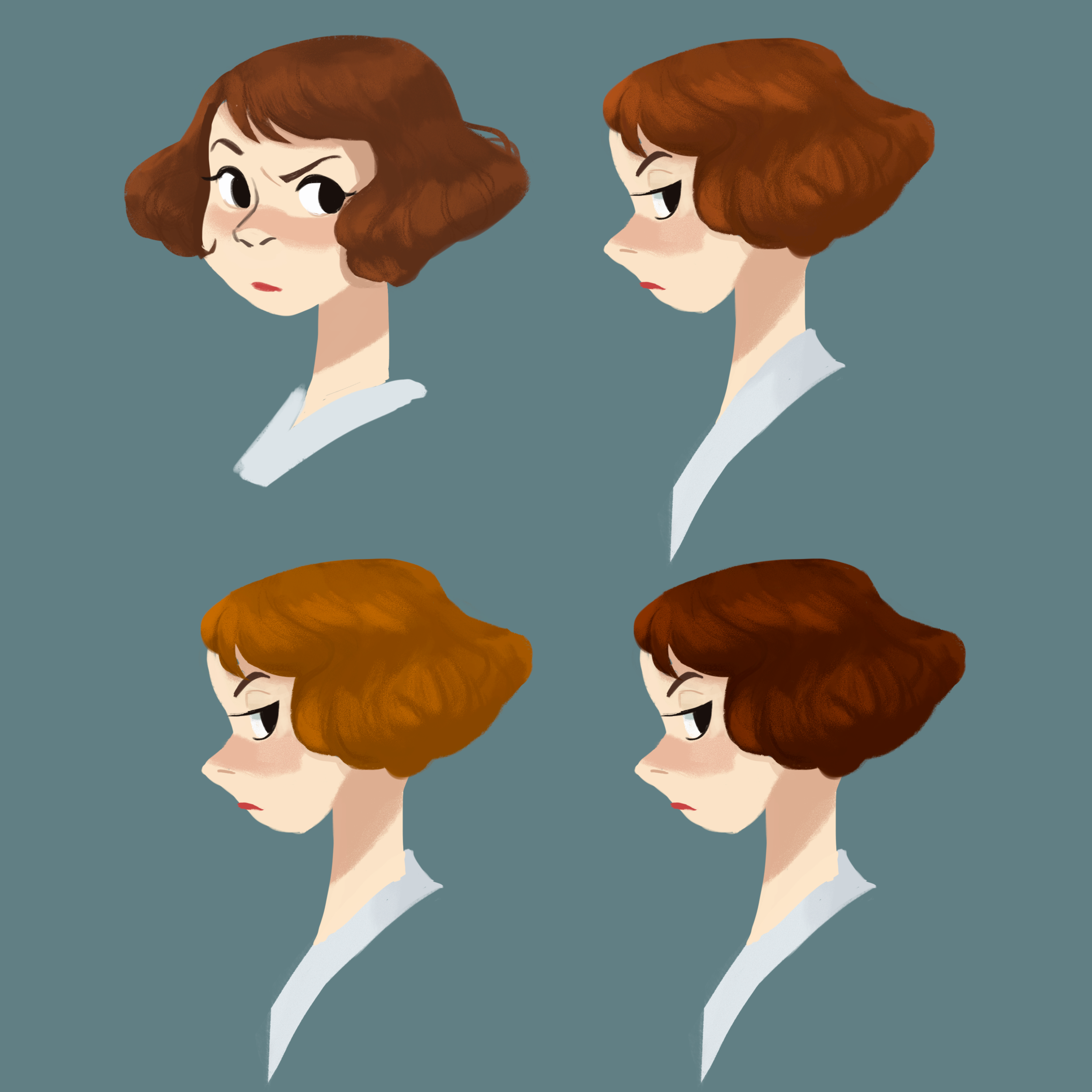Figuring out Marie's hair color.
