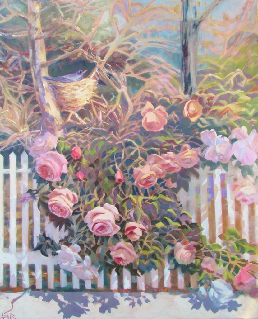 Along the Picket Fence, Hirschten, 39 x 48