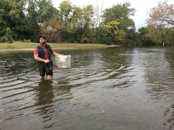 Benny Crossing the Creek.JPG