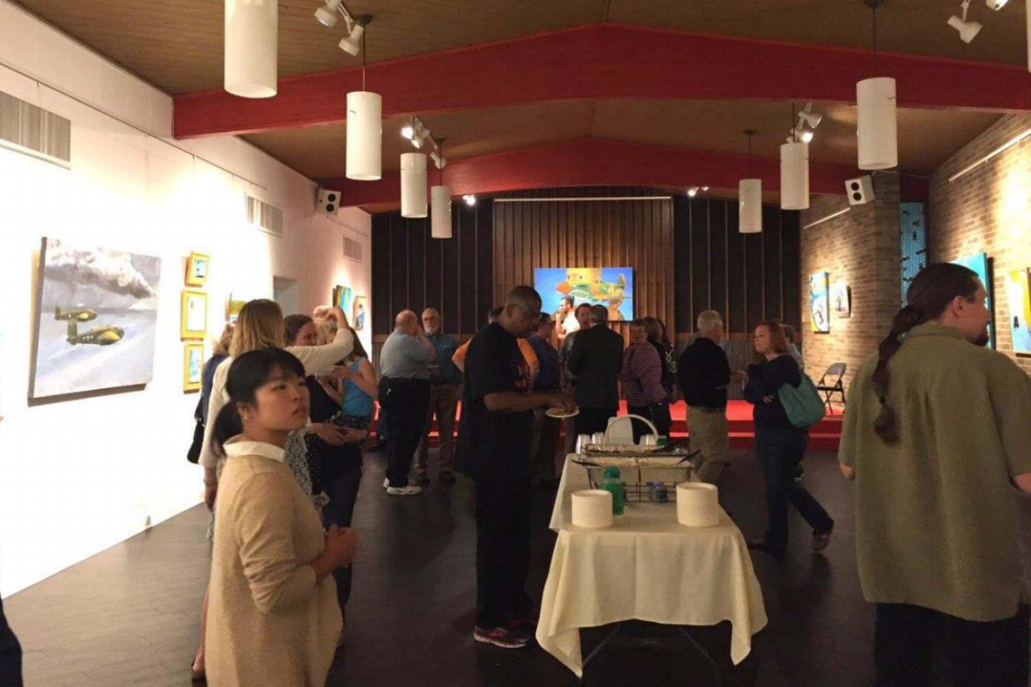 SPECK GALLERY   Located in a large and open space originally used as a chapel, the Speck Gallery features a new exhibit every month. It is available for private parties, meetings and wedding receptions.   see a floorplan  —  look at photos