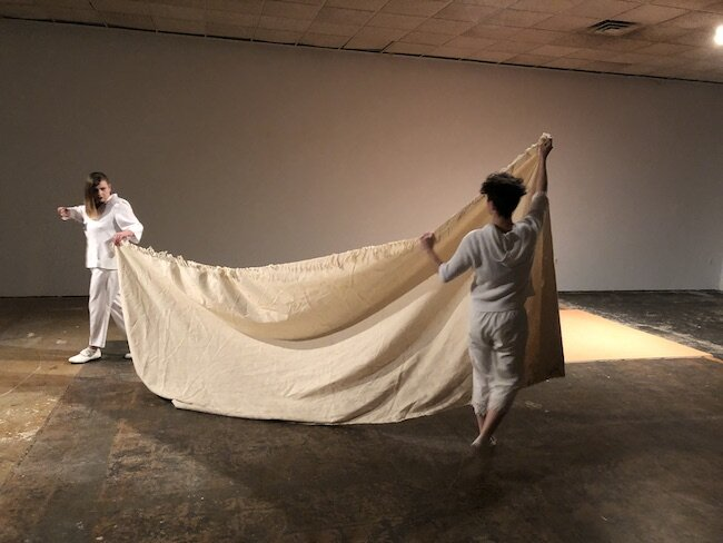 Experiment in Tension  in collaboration with Linda Ryan, Muncie, IN, November 2018