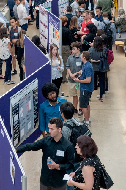 Poster presentations at the Western Synthetic Biology Symposium 3.0.  Image courtesy of Dr. Kathleen Hill.