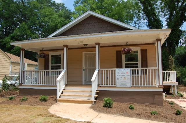 One of the houses St. John helped build in conjunction with the Atlanta Habitat for Humanity.