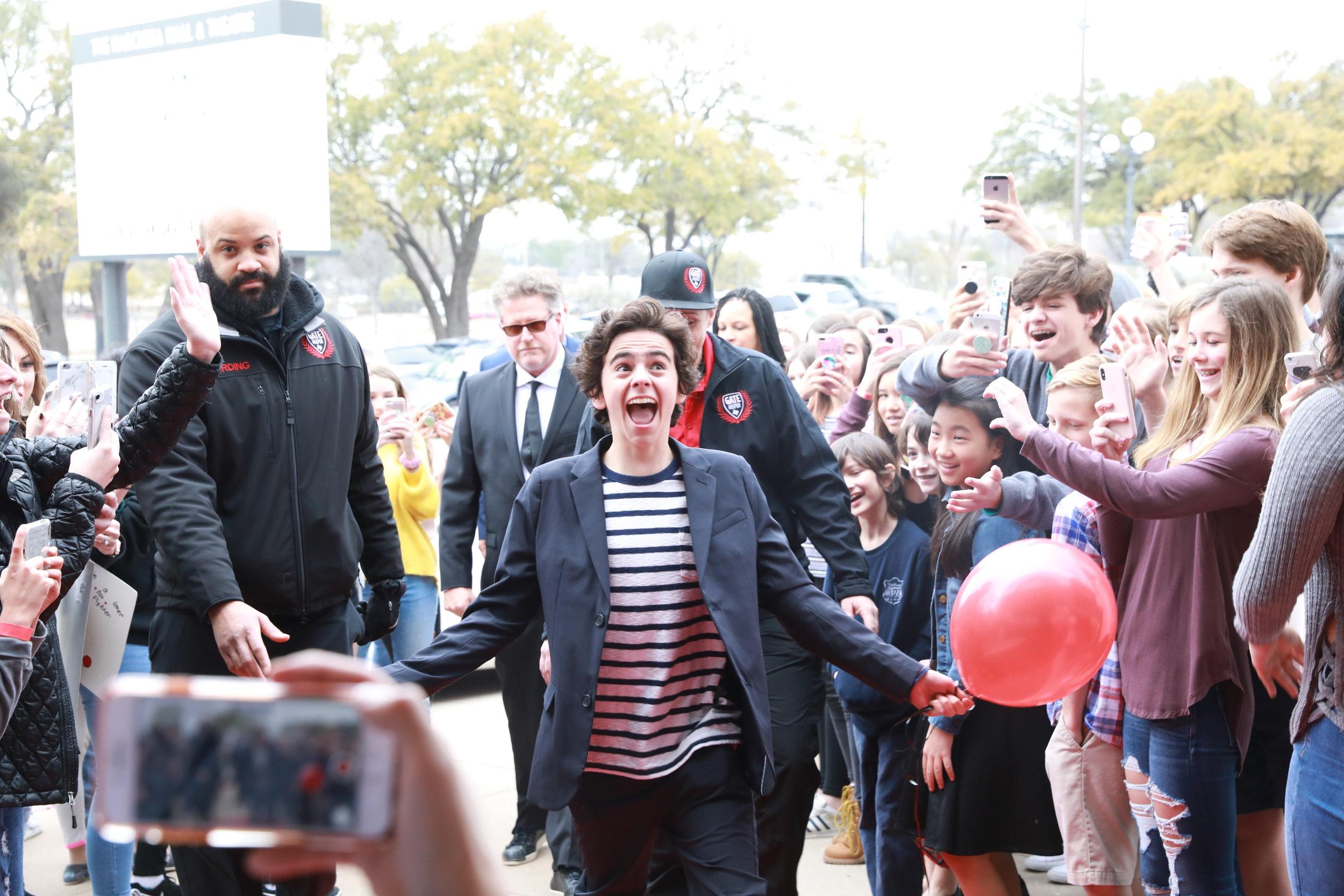 Jack Dylan Grazer at an ADDERLEY SCHOOL event in Austin.