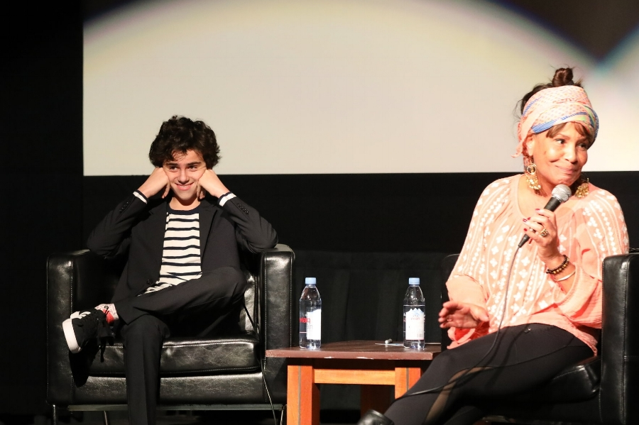 Janet Adderley interviews Jack Dylan Grazer at an ADDERLEY event.