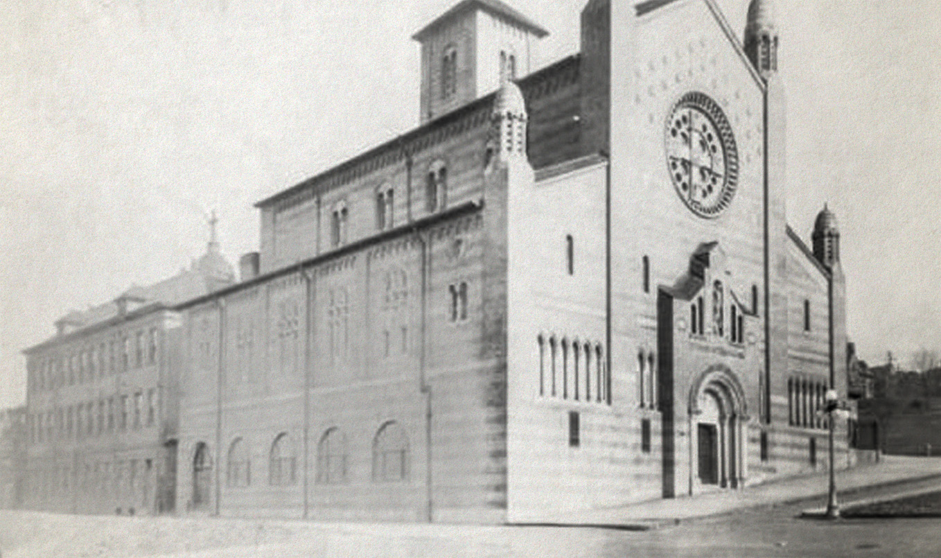 The brick church opened in the late 30's