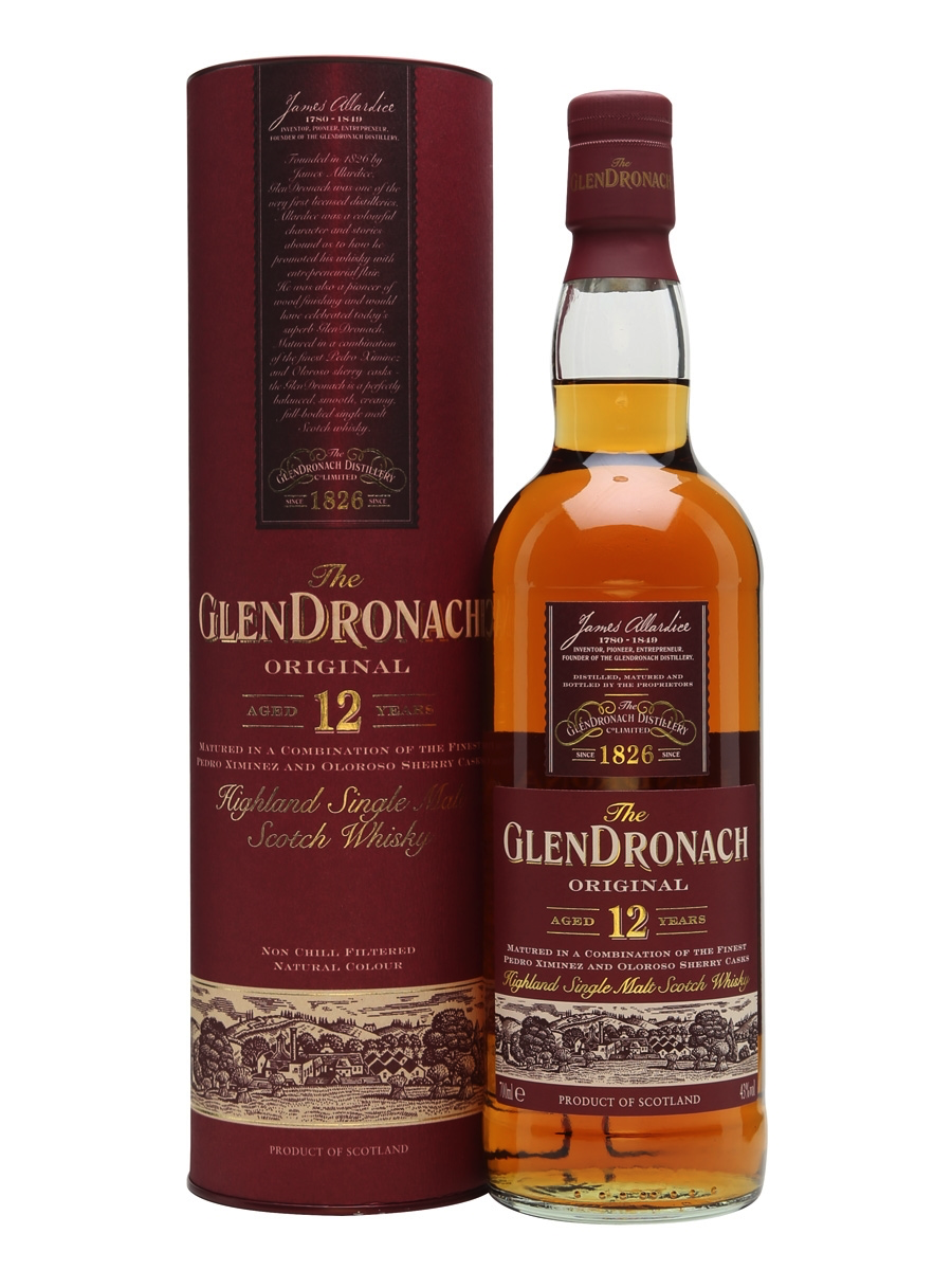 Glendronach 12 - 10. Glendronach 12 – Average Price: $65 Rich Pedro Ximénez Sherry Oaks dominates this whisky palette. In the best way possible. We love a good Spanish oloroso sherry, but sometimes the distinctive freshness you find with the PX is a refreshing mix up. This is perfect example of an excellent 12-year aged whisky done right, with a blend of PX casks and Olorosso sherry that create big flavor, and a warm delightful finish.