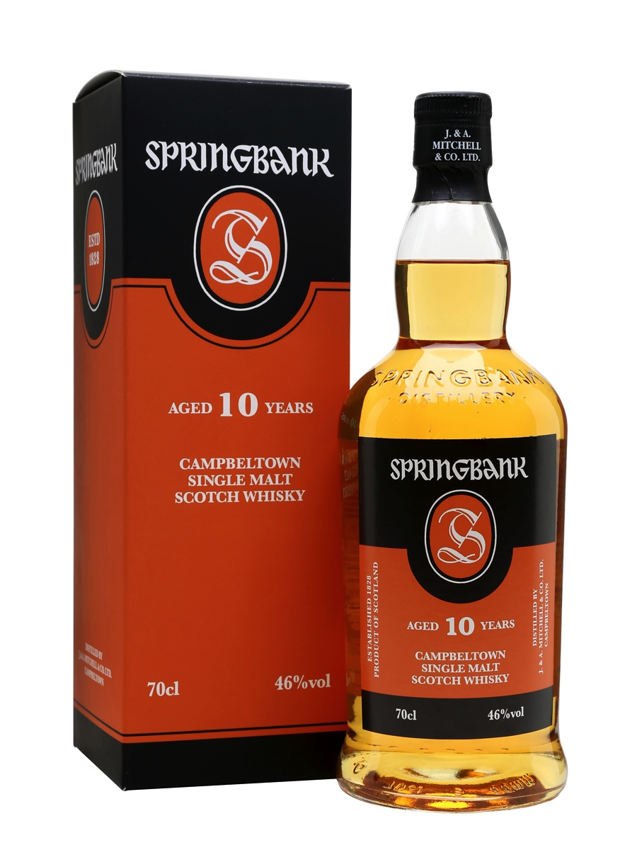 Springbank 10 - 2. Springbank 10-Average Price: $65Our favorite 10-year aged whisky. It's big. It packs a punch, and is just loaded with flavor. It's a perfect balance of youth, smoke, sweet, and citrus. The peat is wonderfully rich and nutty which distinguishes this 10-year from Campbeltown from other peated whiskies you've had. This whisky is such a powerhouse and an absolutely top dram. Pick one up and you'll get it instantly.