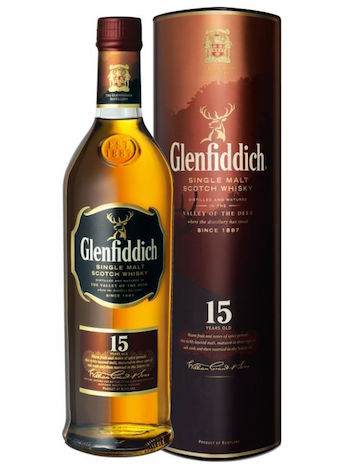 Glenfiddich 15 - 4. Glenfiddich 15- Average Price: $55 Welcome to an incredibly easy drinking whisky. The Glenfiddich 15 is smooth but has a nice 'umph' behind it. This whisky will not explode with flavor in your mouth, but the flavors you get will be rich, refined, and downright delicious. The profile is loaded with spice and stewed apples, toffee, honey and oak. A luxurious feel for a beyond reasonable price!