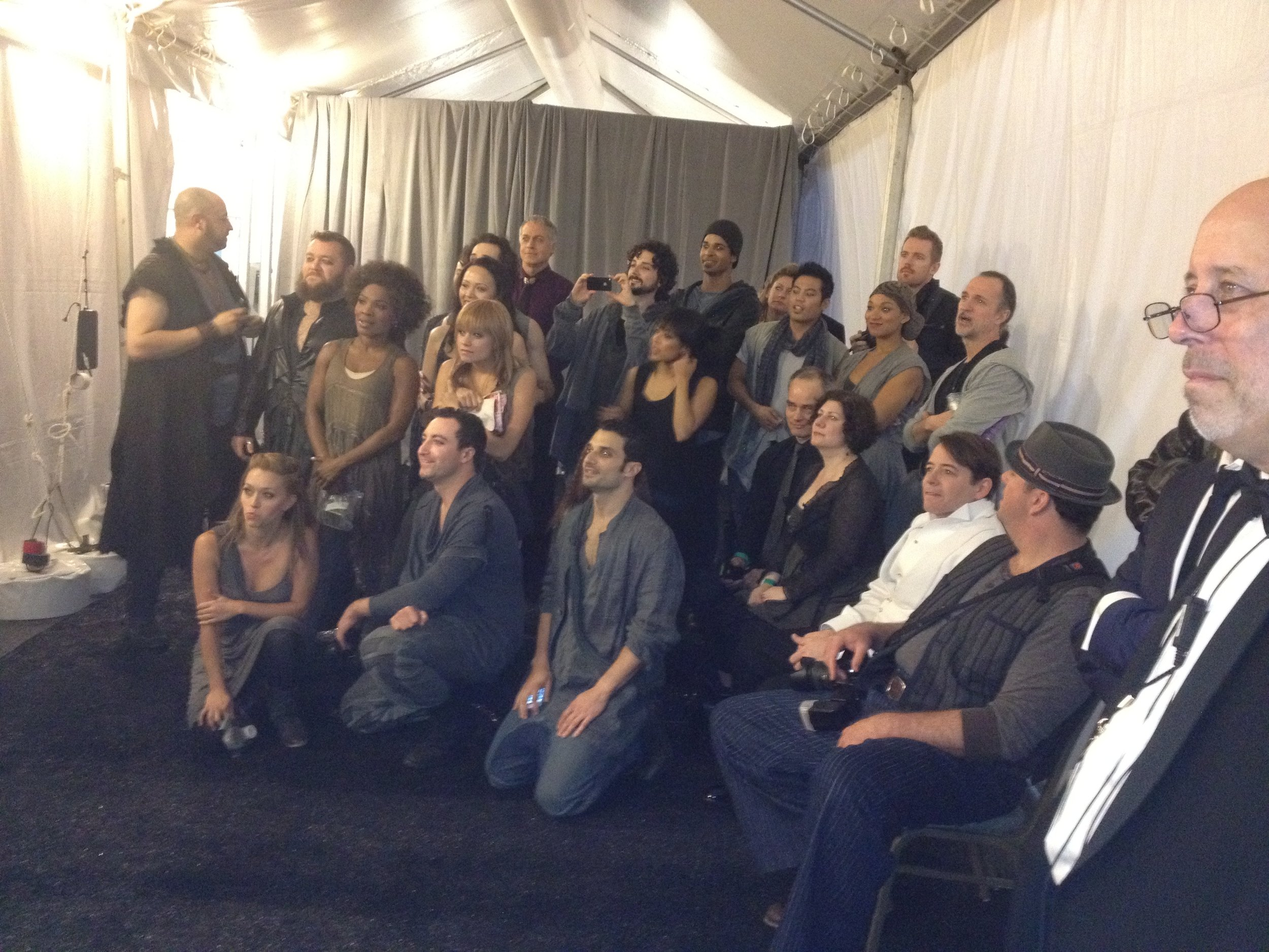JCS cast (and Matthew Broderick) backstage at the Tonys