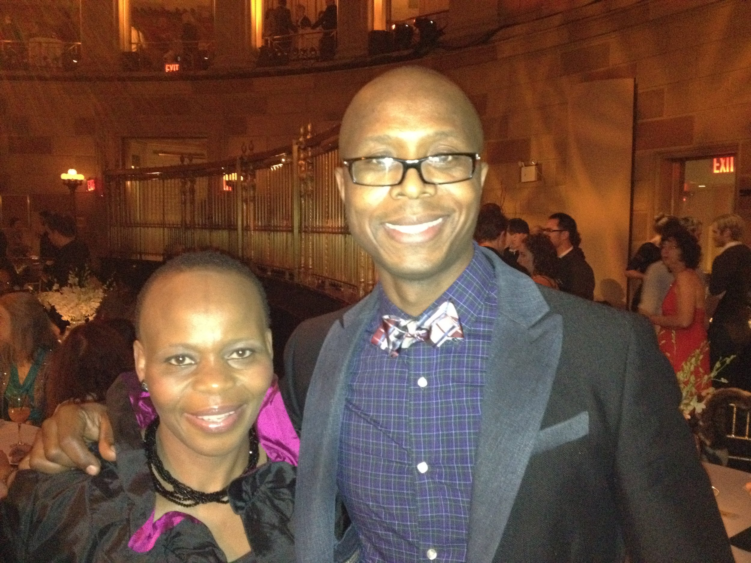 Tshidi Manye (Rafiki) and S'bu Ngema