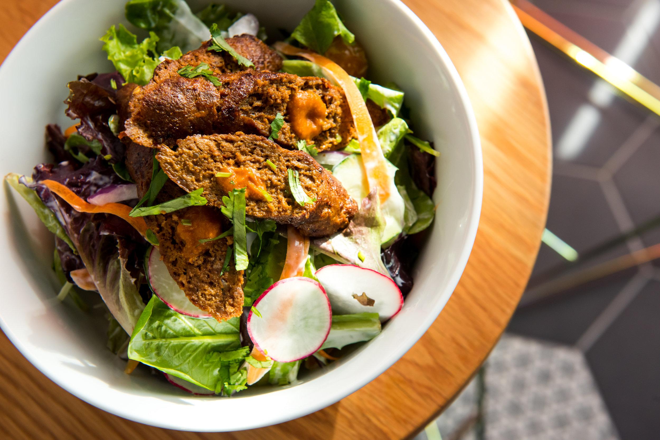 Lamb kebab salad