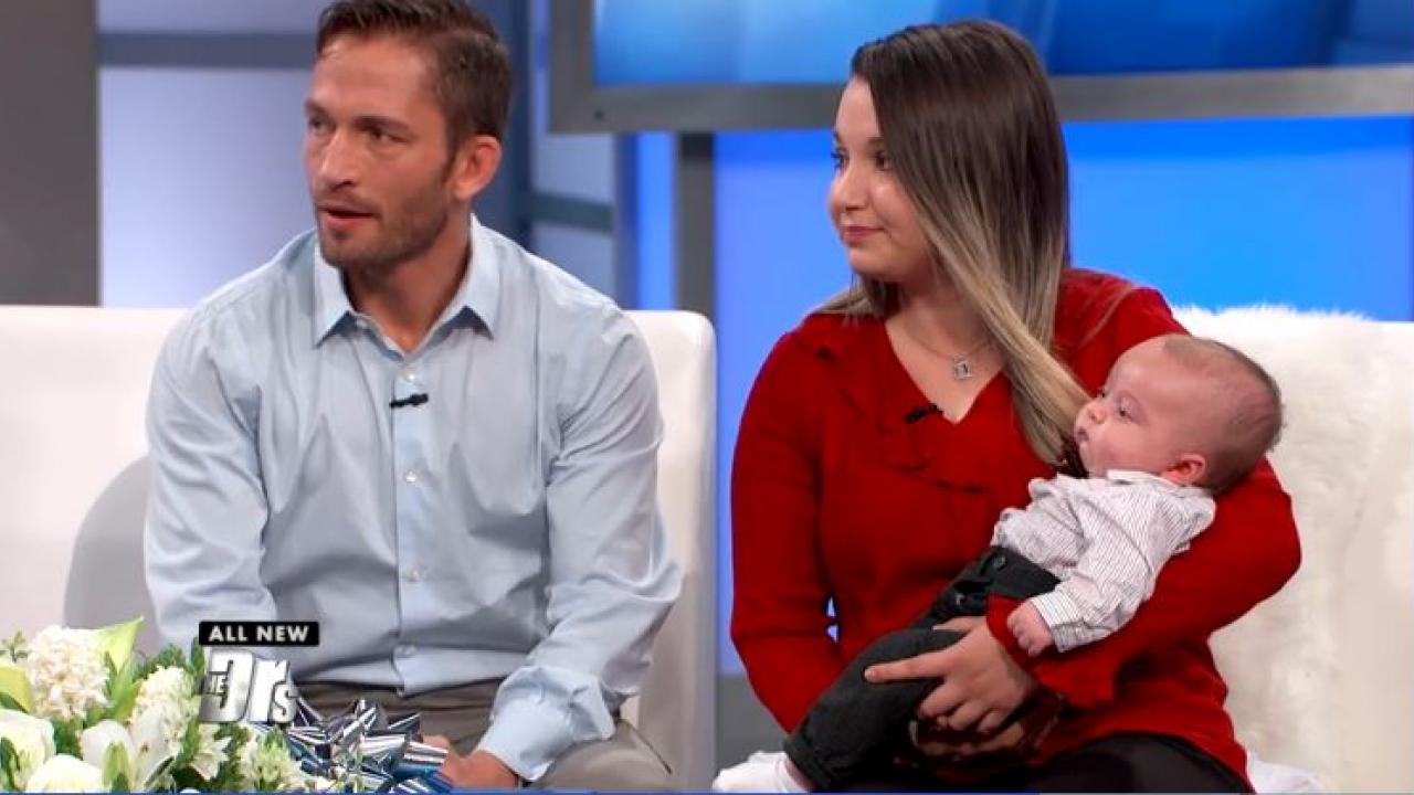 ET: MMA FIGHTER MARCUS KOWAL IS A FATHER AGAIN AFTER 15-MONTH OLD SON WAS KILLED BY DRUNK DRIVER - The MMA fighter and his wife, Mishel, appeared on The Doctors, where they opened up about welcoming a baby boy, 3-month-old Nico, more than a year after their 15-month old son, Liam, was tragically killed by a drunk driver.