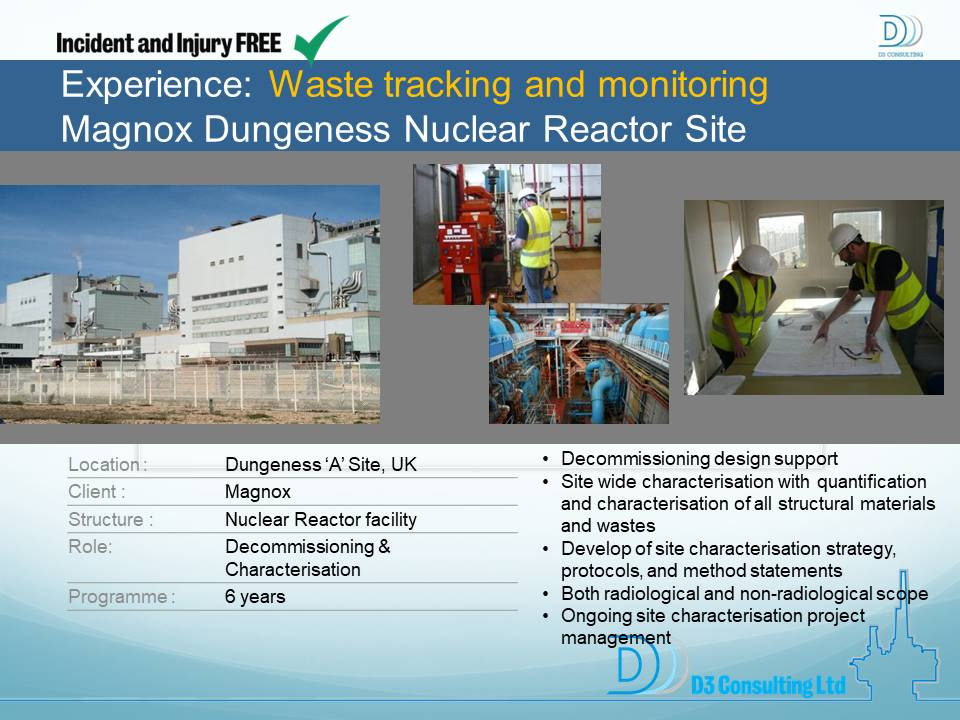 Waste Tracking and Monitoring Magnox Dungeness Nuclear Reactor Site
