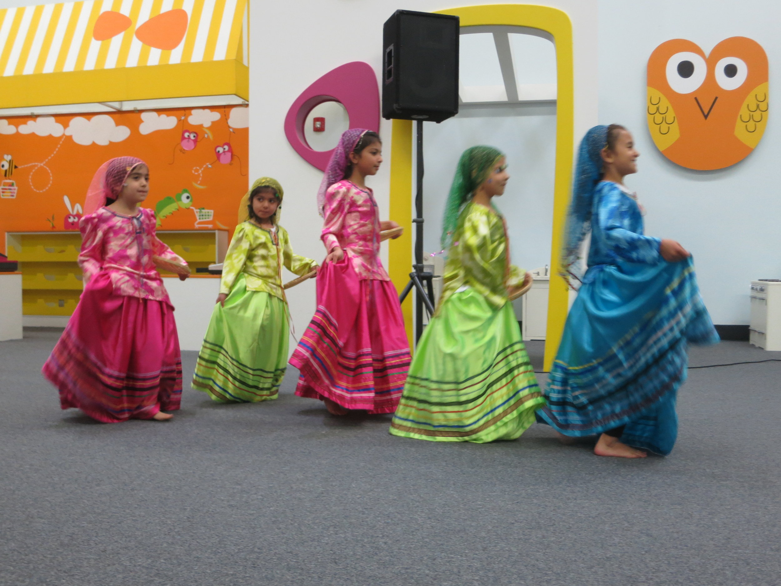 Ume Norooz celebration 2015 younger girls class Ghassemabadi dance