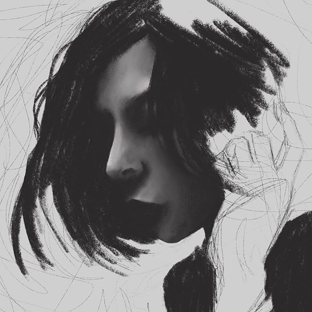 Wip ✍🏻. . . . . . . . . . #wip #workinprogress #wipdrawing #drawing #digitaldrawing #digitalart #illustration #digitalillustraion #portraitdrawing #drawinghair #drawinghands #procreateart #hairdrawing #surrealisticart #ipadproart #norwegianartist #darkartwork #darkart #illustrationartist #drawingfaces #waydownwego