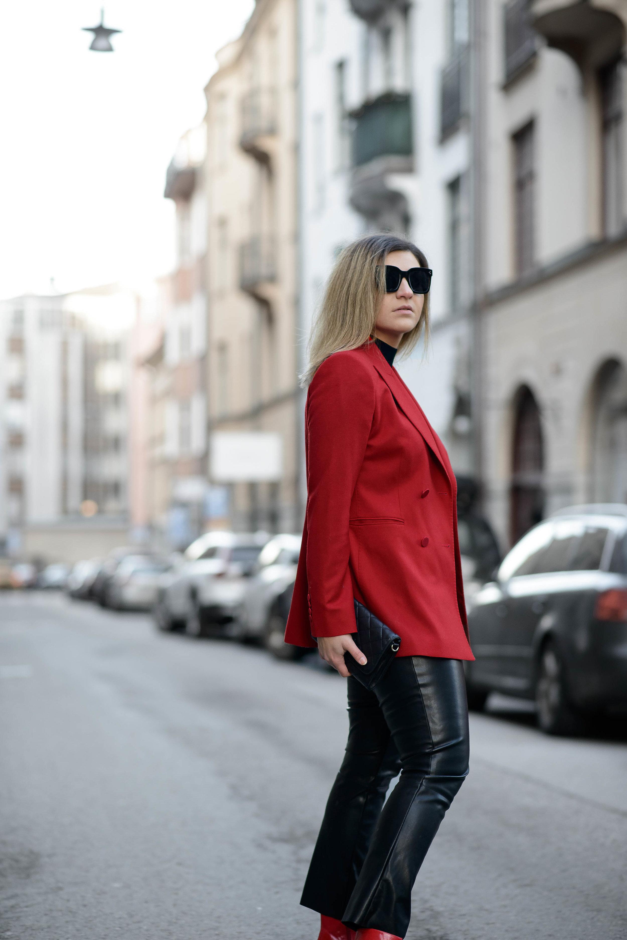 aboutthatlook, massimo dutti, fashion, red blazer