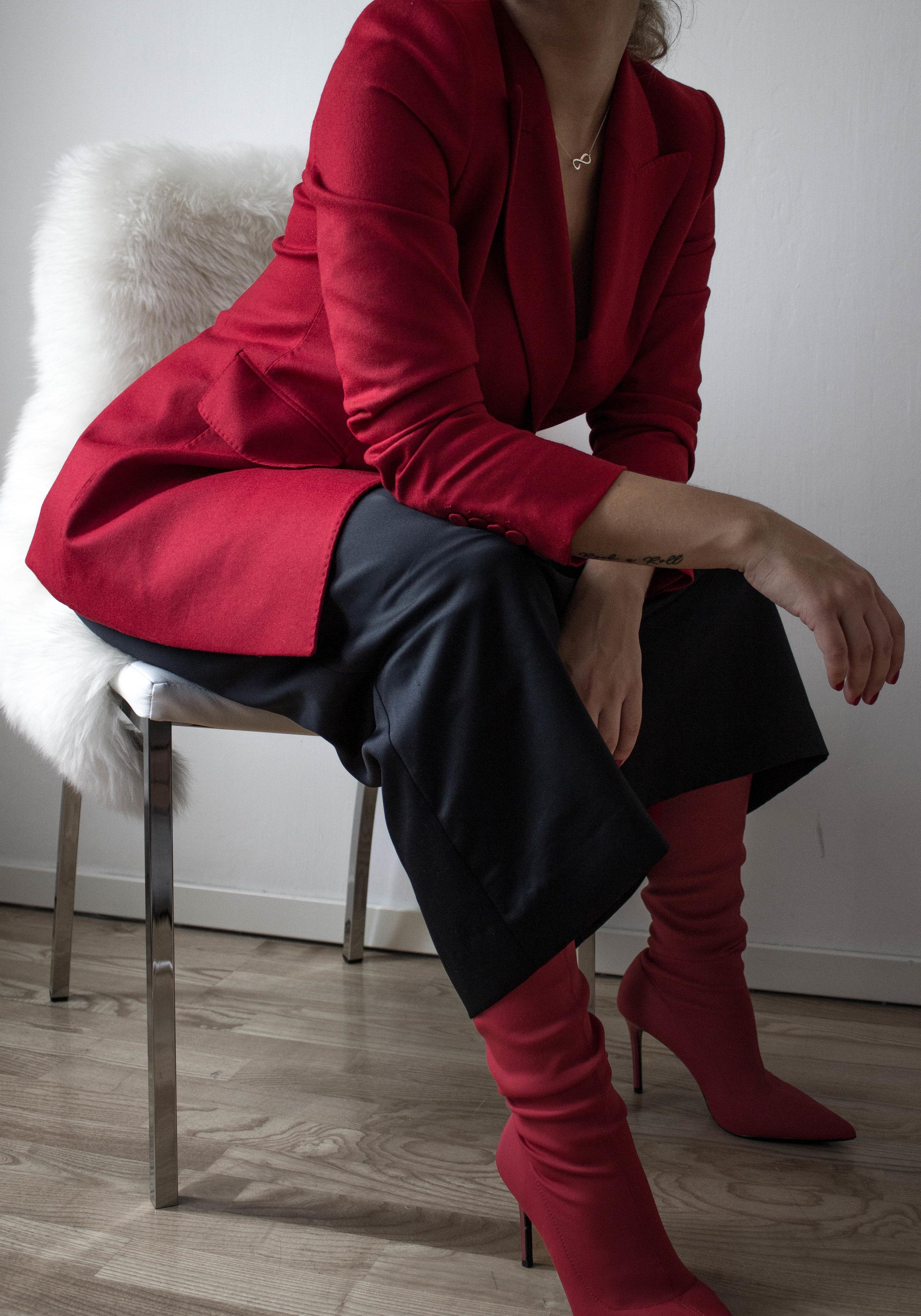 aboutthatlook, massimo dutti, fashion, red blazer, mango, vintage