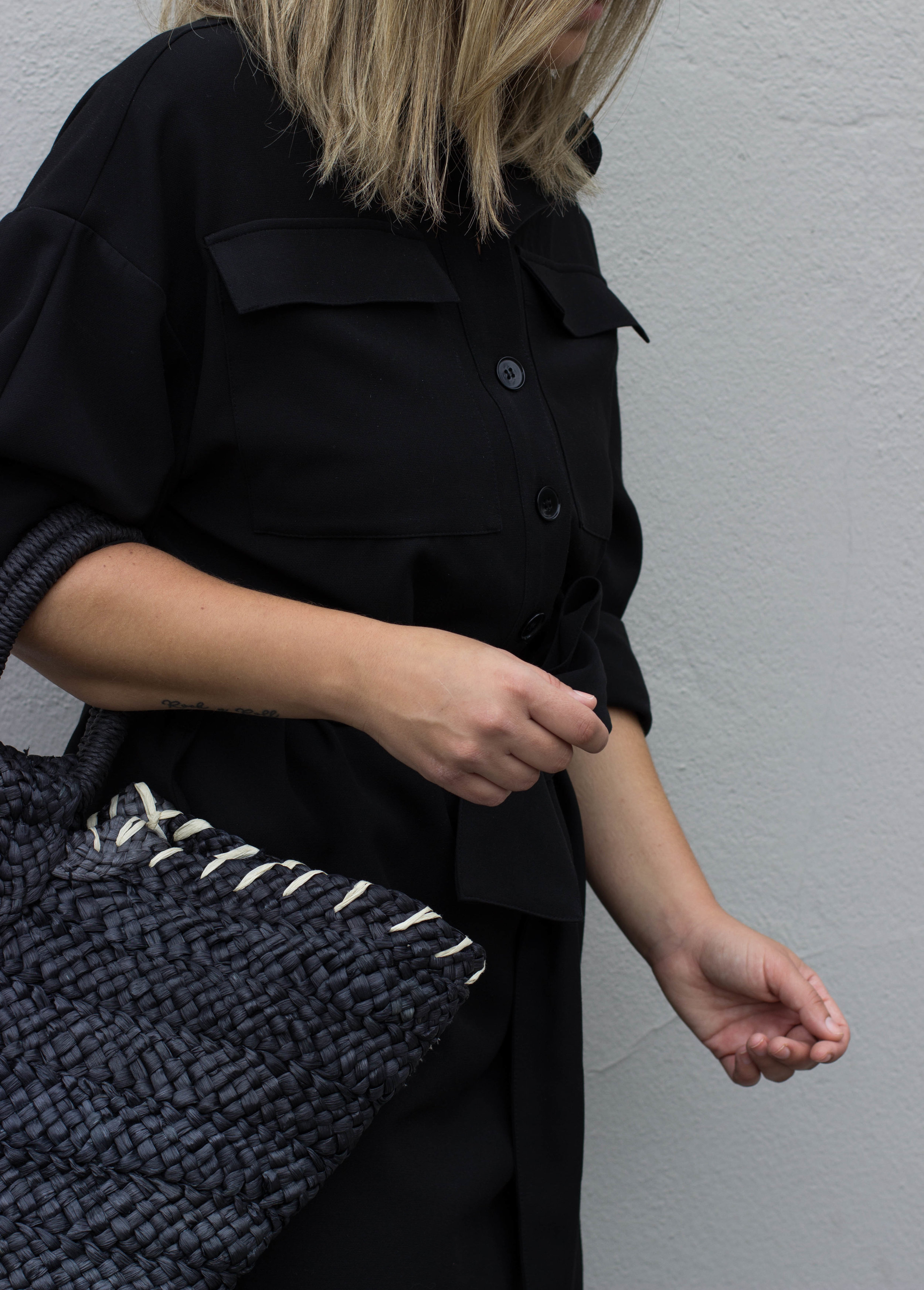 about that look, style, fashion, strawbag
