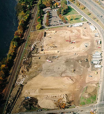 The start of construction during the Fall of 2001.