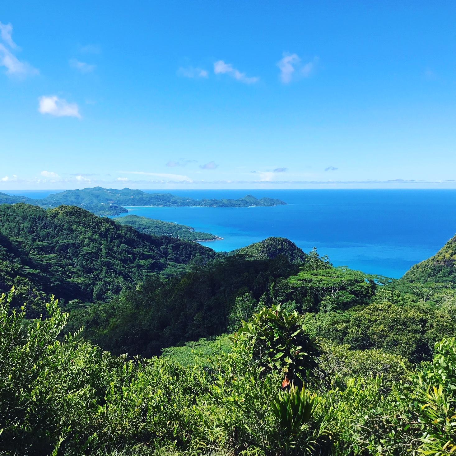 View of the ocean, Mahe Island, Seychelles